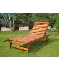 Acacia Wooden Sun Lounger