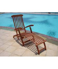 Acacia Wood Steamer Sun Lounger