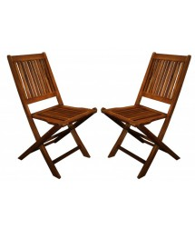Acacia Wood Foldable Chairs