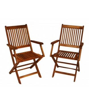 Wooden Foldable ArmChairs
