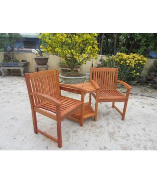 Acacia Wood Garden Companion Seat