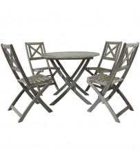 Isla Distressed  Acacia 4 Seater Dining Set