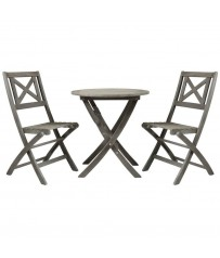 Isla Distressed  Acacia Bistro Set