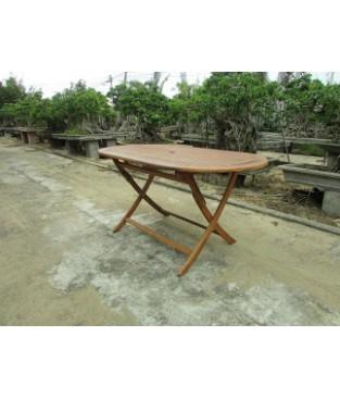 Acacia Wood Oval Folding Dining Table