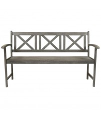 Isla Distressed Acacia 3 Seater Garden Bench