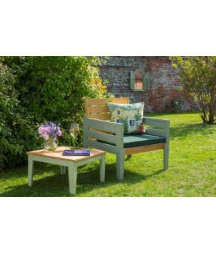 Table 50*50*35H cm & Armchair